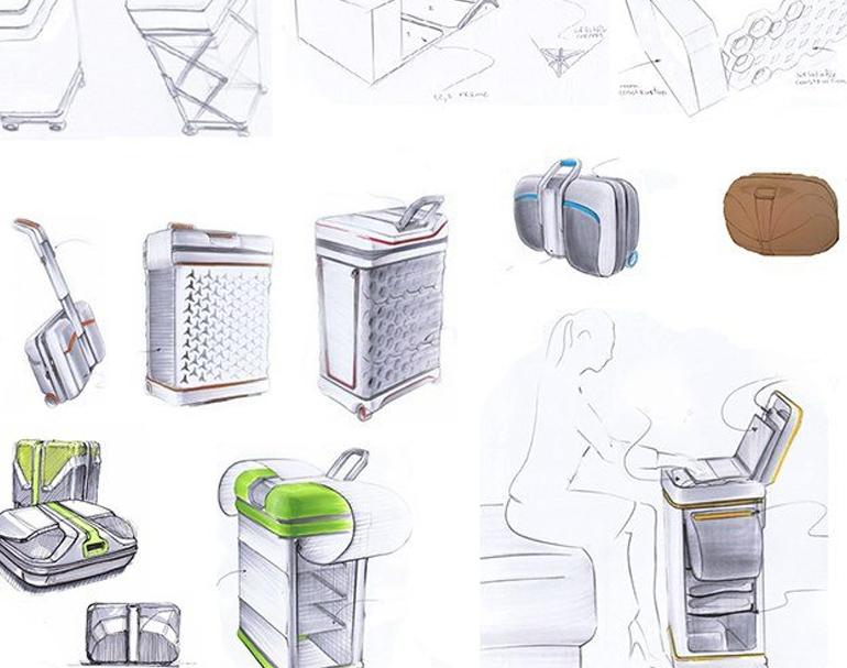 סקיצות עיצוב מוצר ראשונות